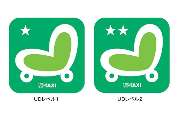 「UD TAXI」左:UDレベル1/右:UDレベル2